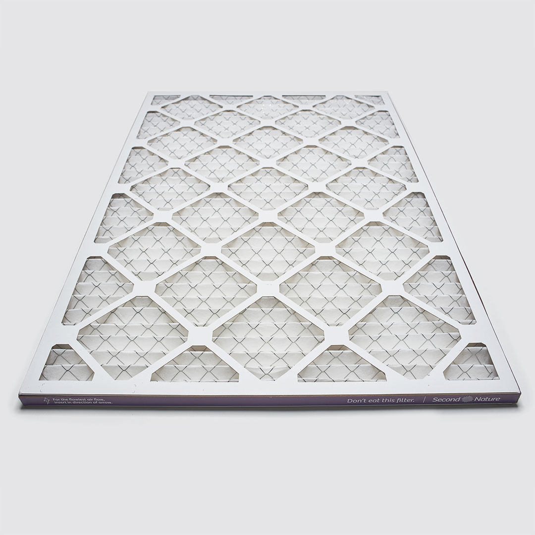 20x30x1 second nature air filter angle view