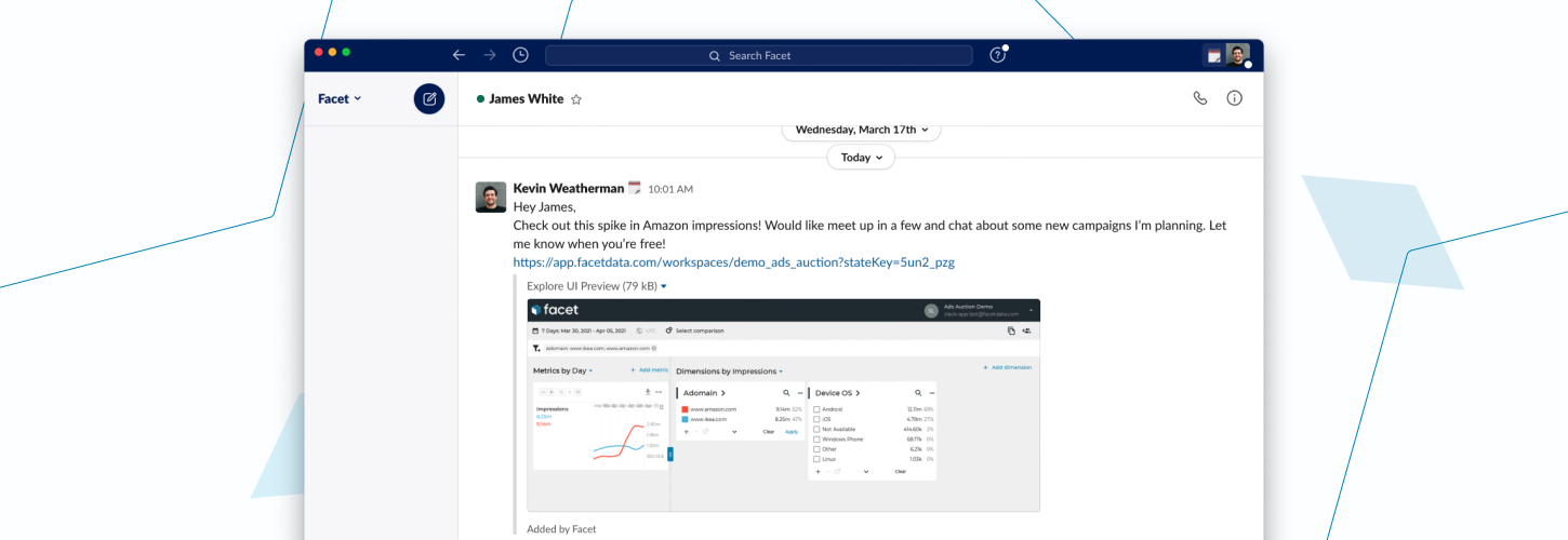 Improving Data Sharing with the Facet Slack App