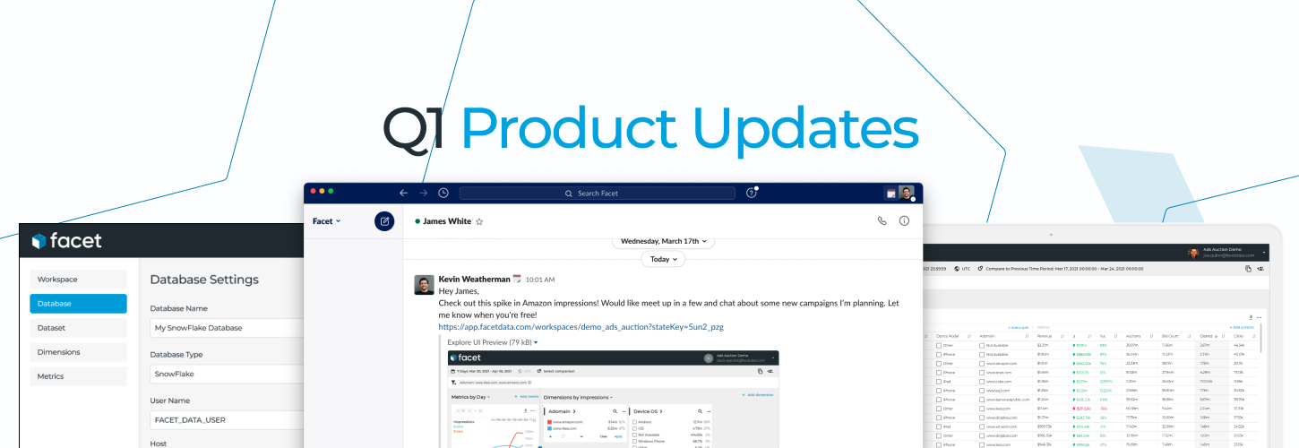 Q1 Product Updates - Integrate, Explore and Share