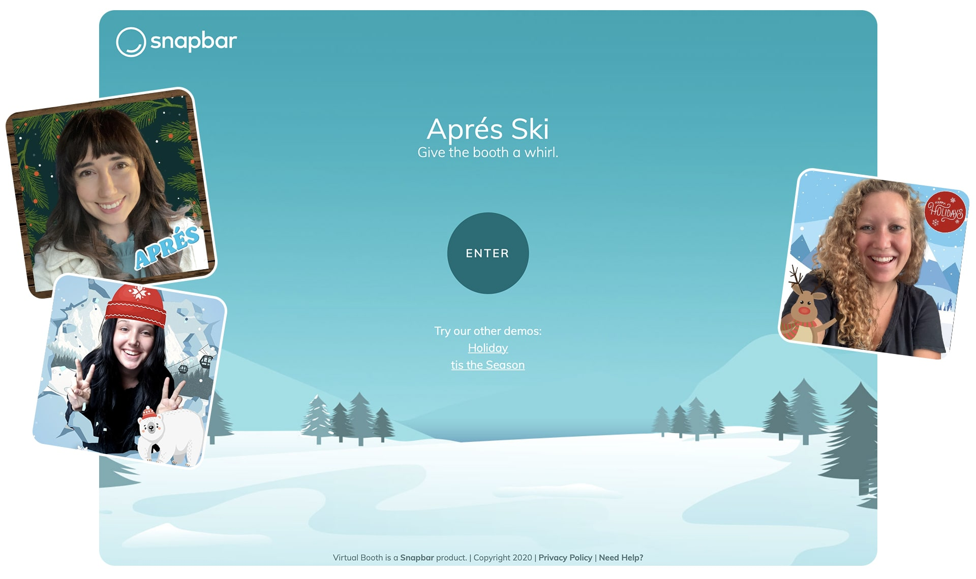 Apres ski virtual booth demo