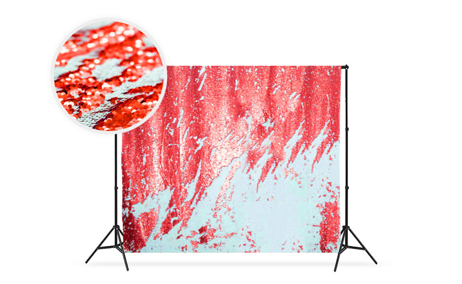Candy Cane Reversible Sequin