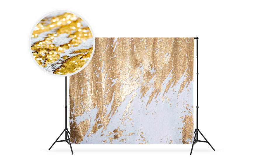 White/Gold Reversible Sequin