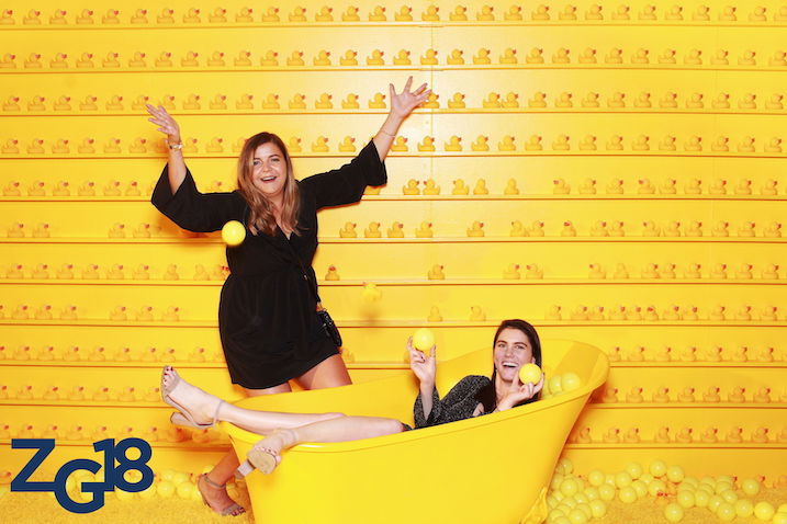 Zillow rubber duck photo booth set