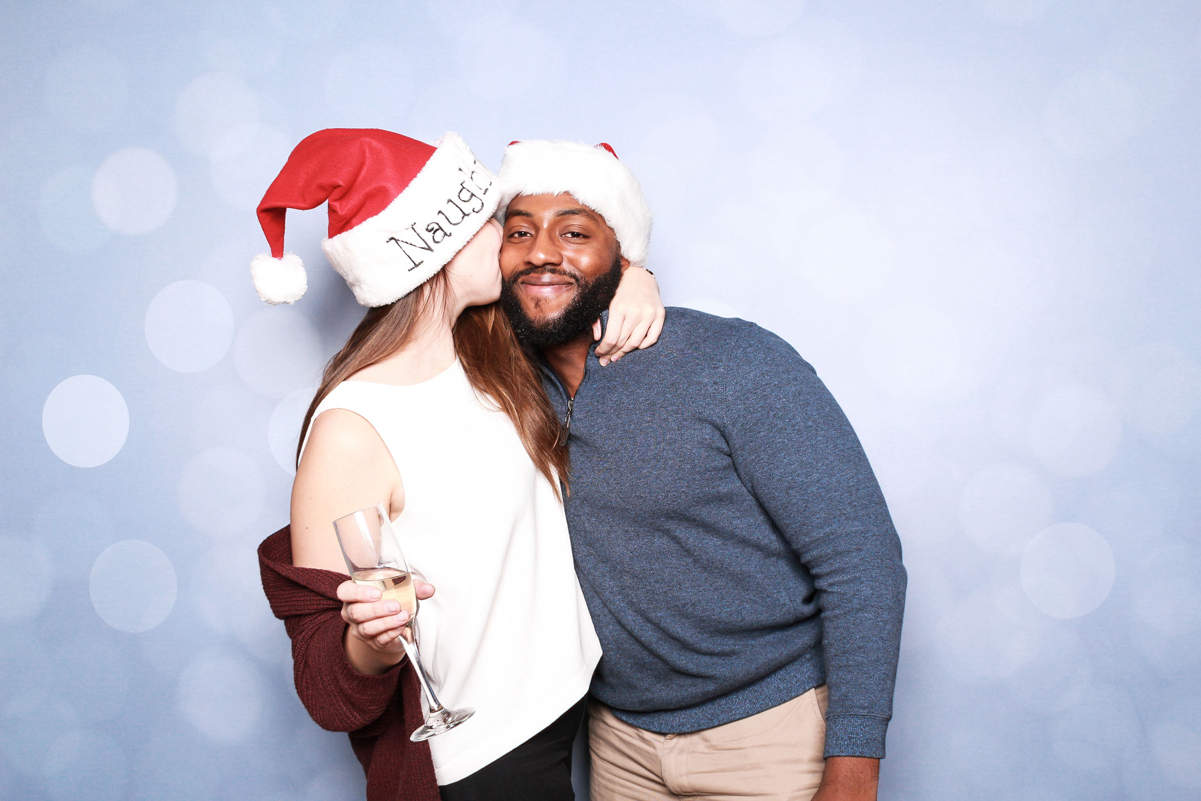 Couple photo booth pose