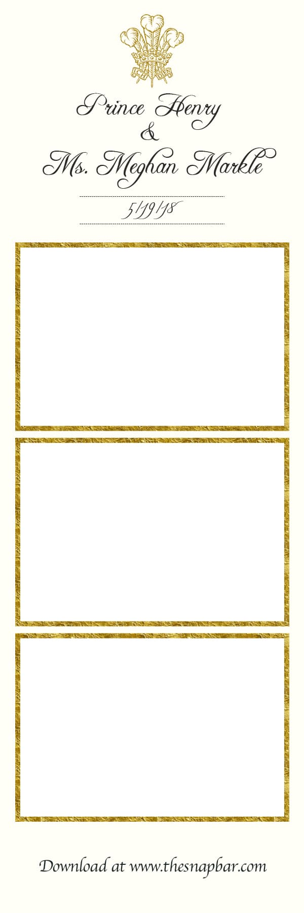 Royal Wedding Photo Booth Print Template