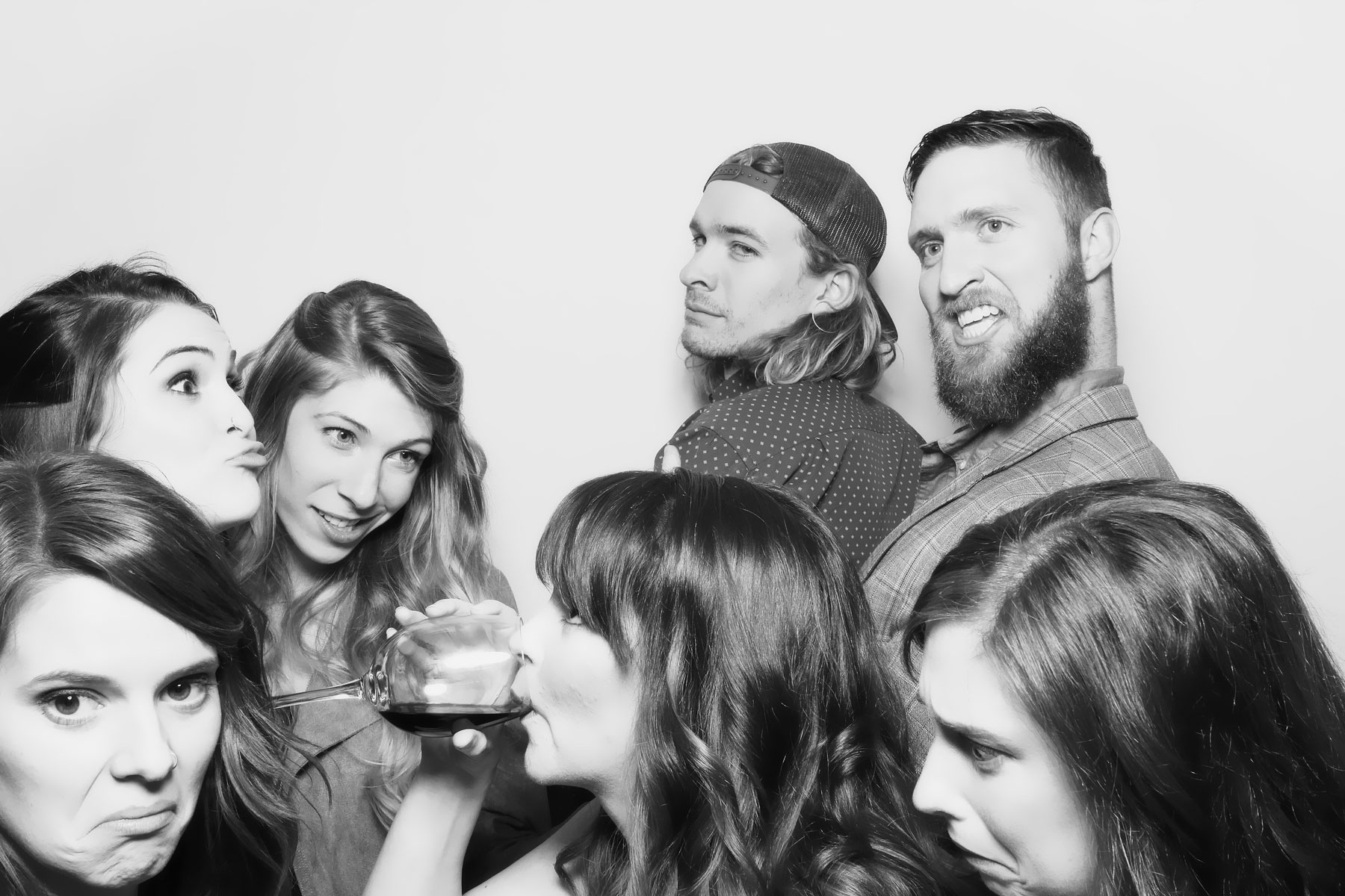Group photo booth picture
