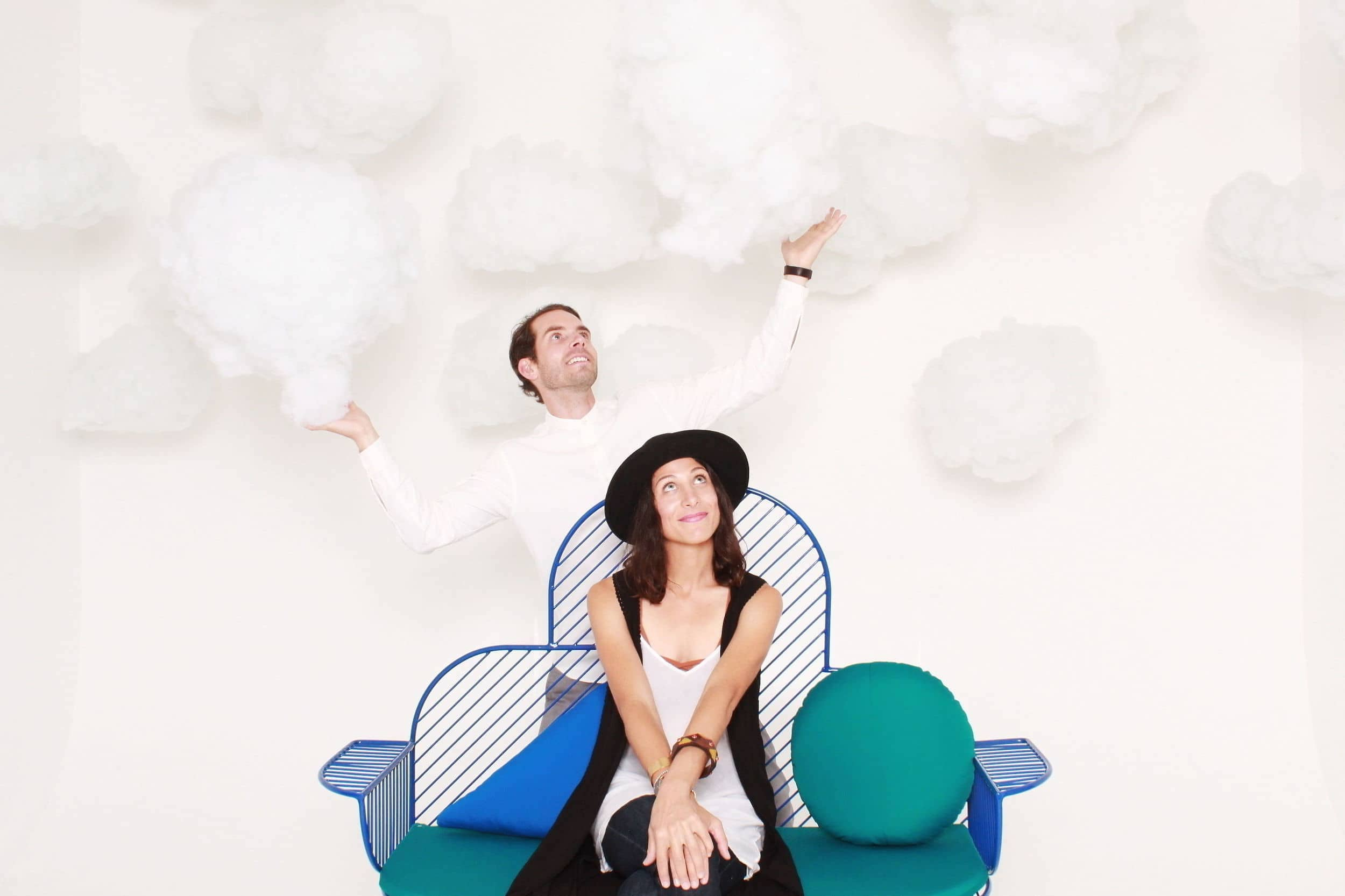 Flying in the clouds set design photo booth