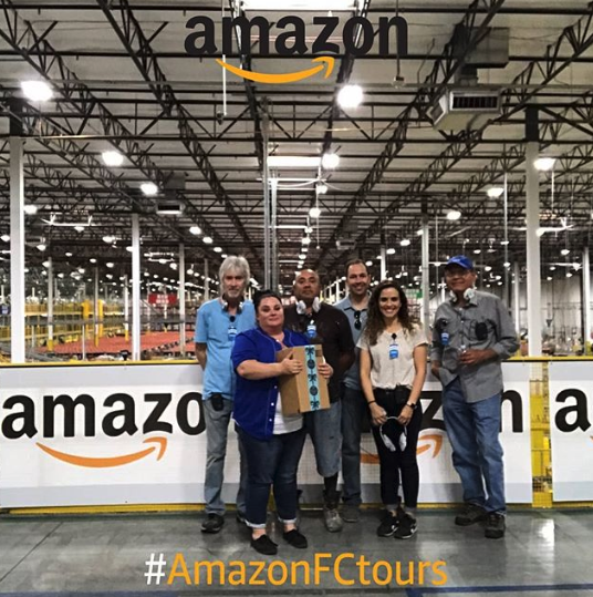 Amazon fulfillment center Selfie Stand