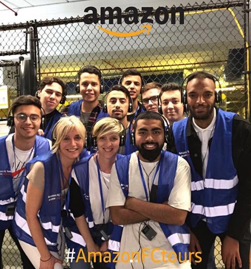 Amazon FC Tours Selfie Stand Photos