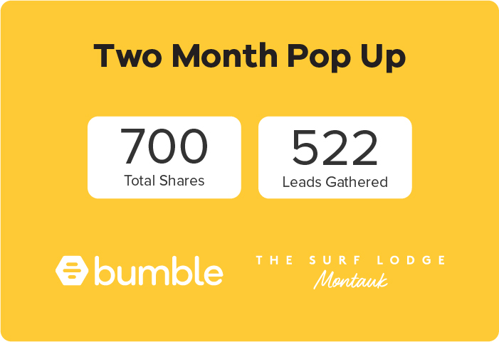 Bumble and The SnapBar photo booth experience results