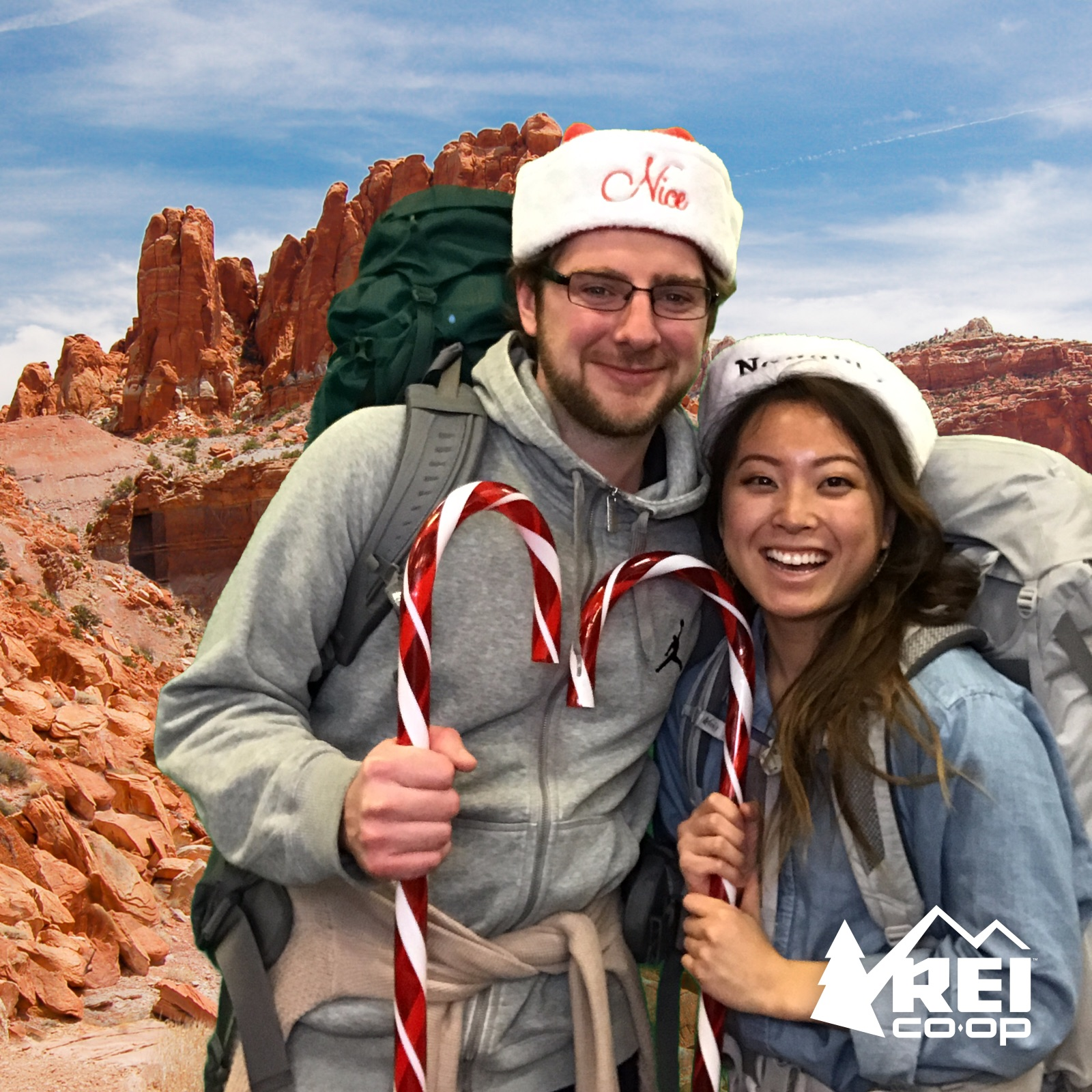 REI holiday activation #takeyourselfieonanadventure