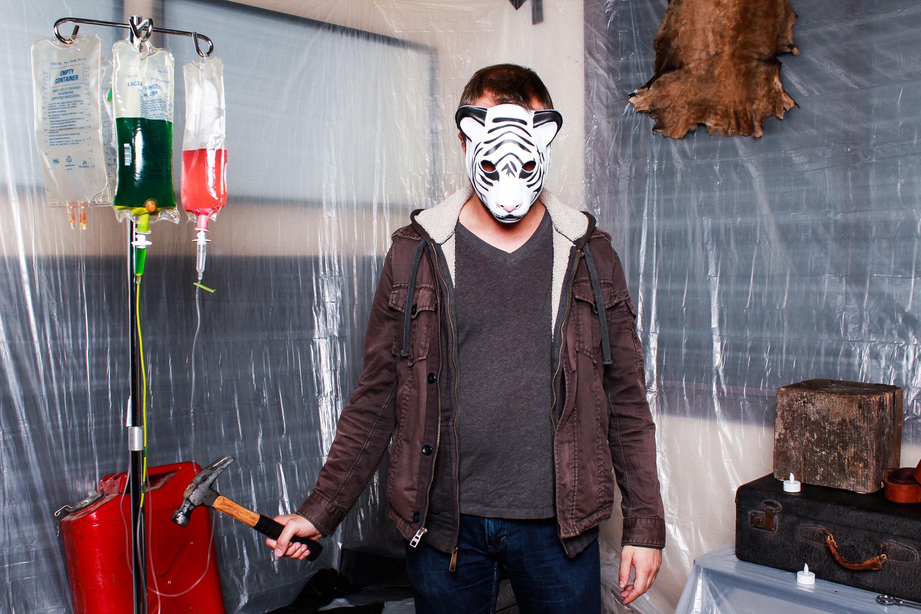 Halloween photo booth set