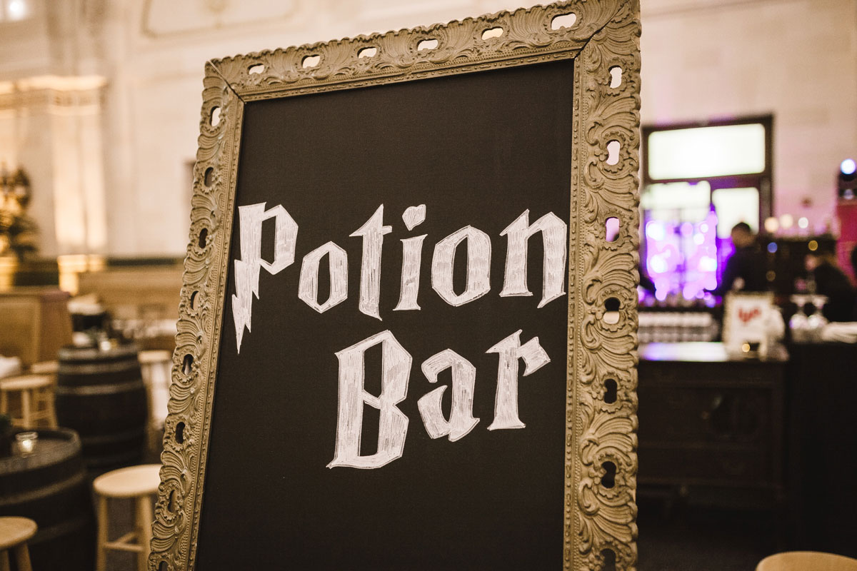 Harry Potter event signage