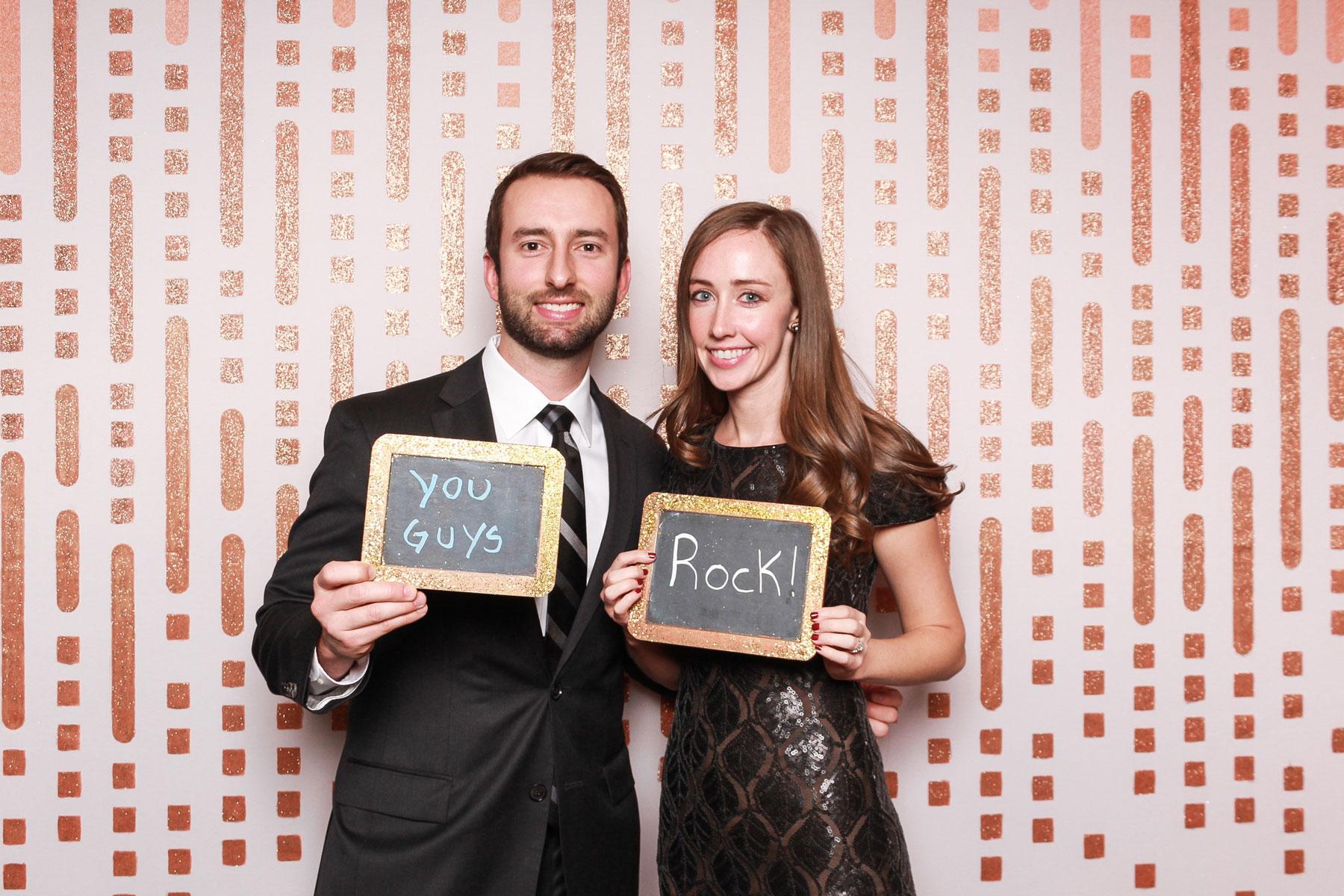 Rose gold wedding photo backdrop
