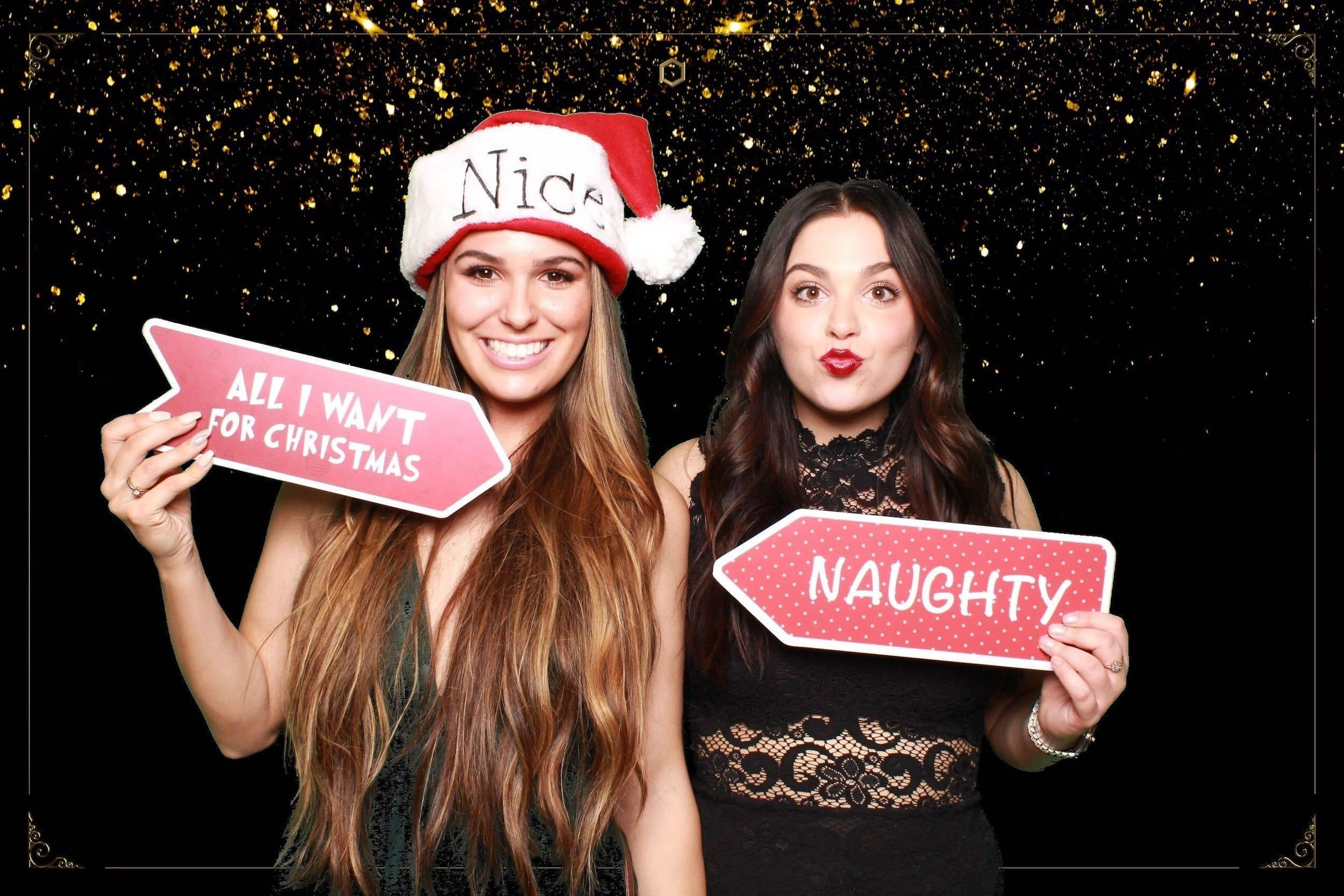 Christmas party photo booth green screen