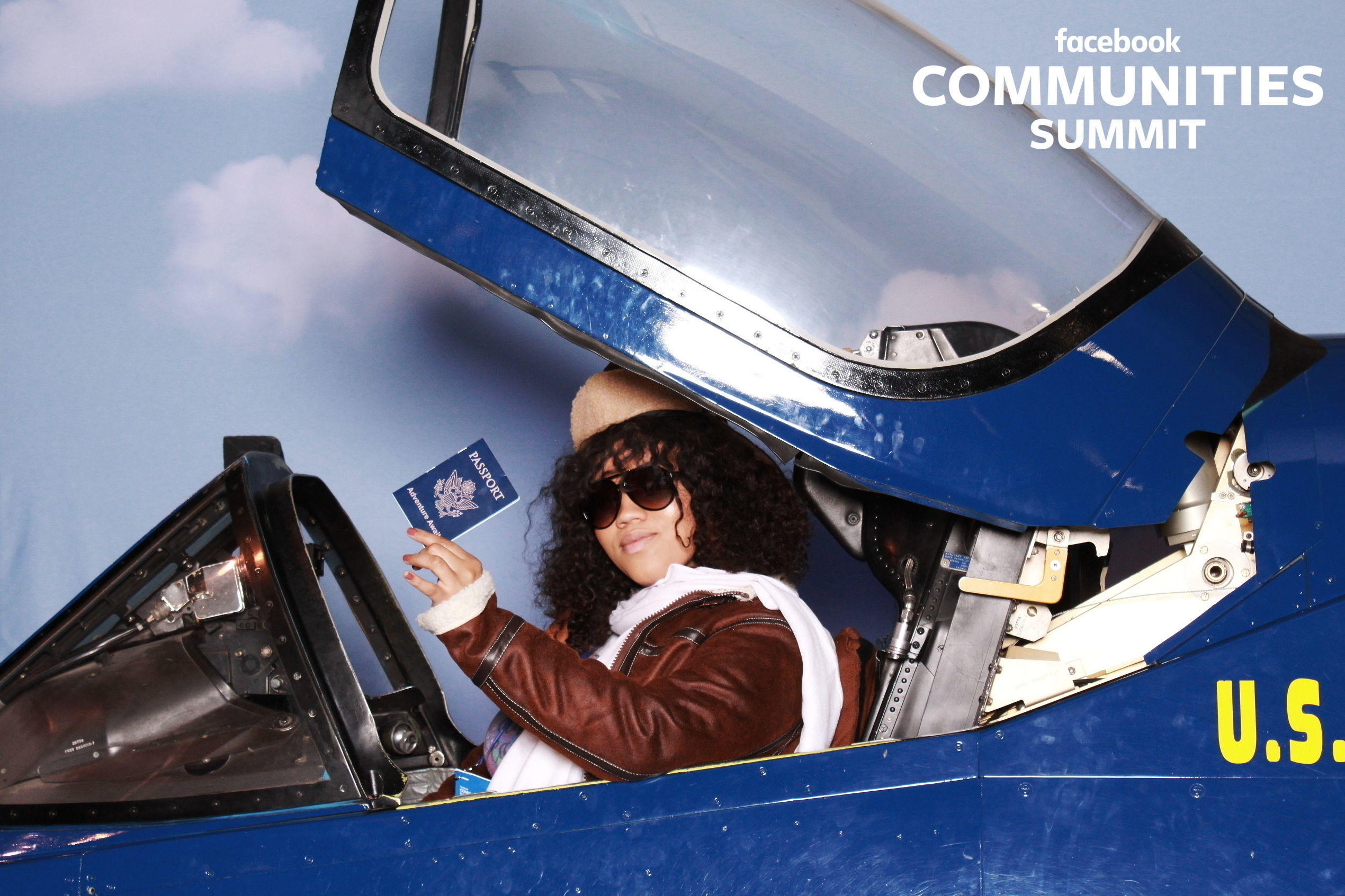 Airplane custom photo booth