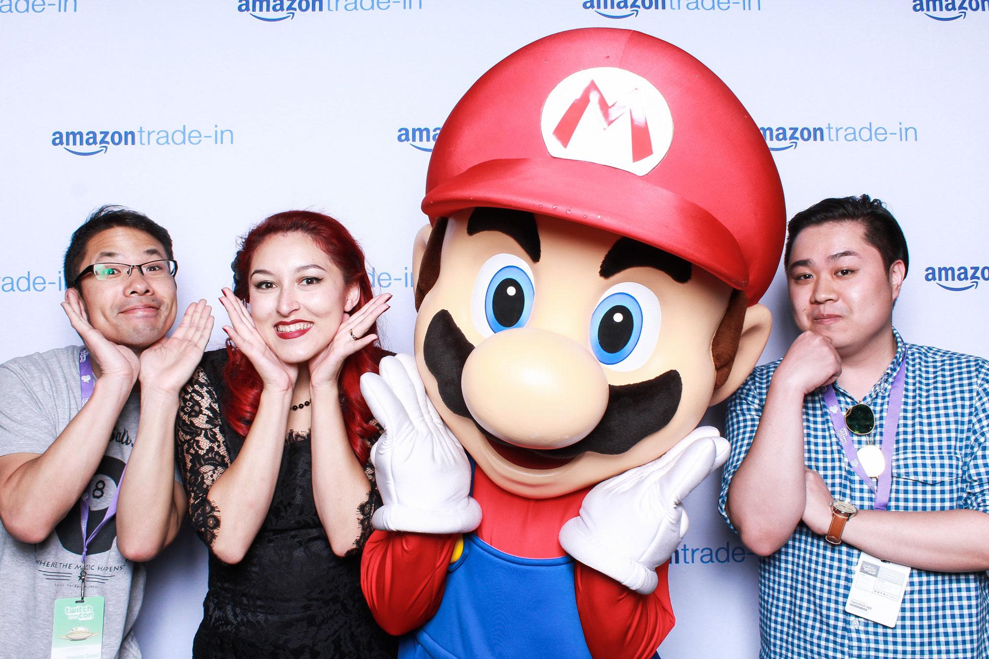 Mario Smash Amazon Photo Booth