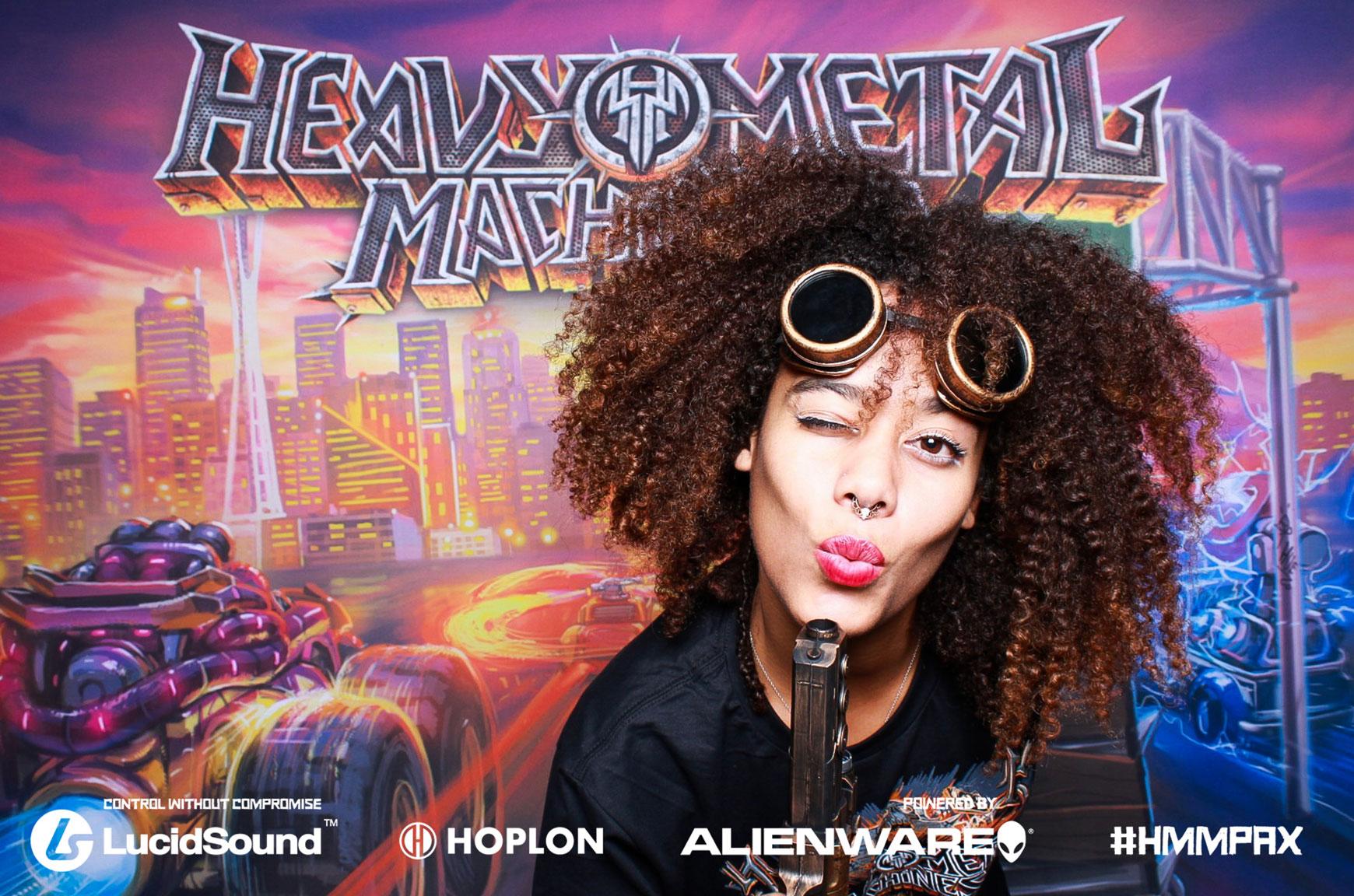 Heavy Metal machine photo booth