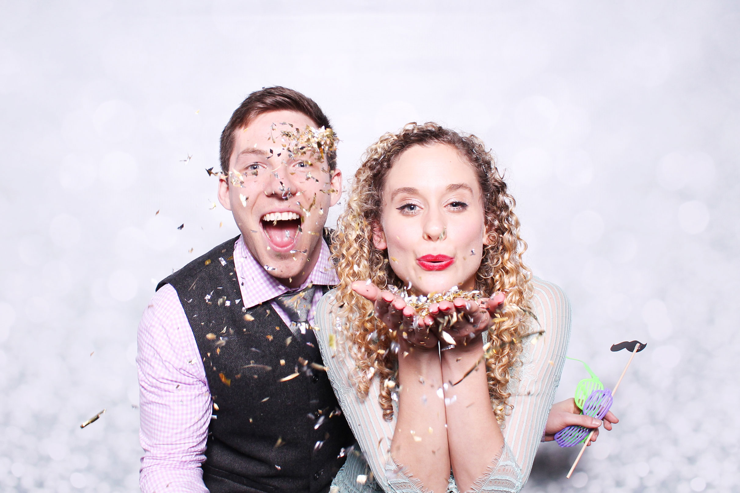Glitter prop photo booth