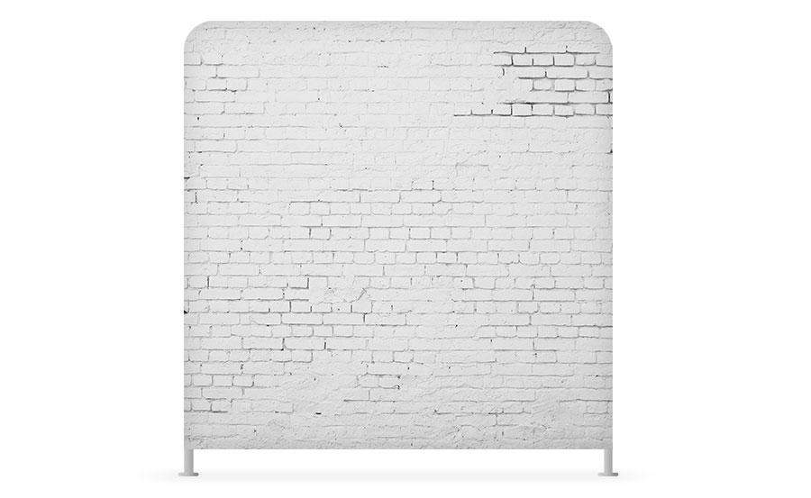 The SnapBar white brick backdrop