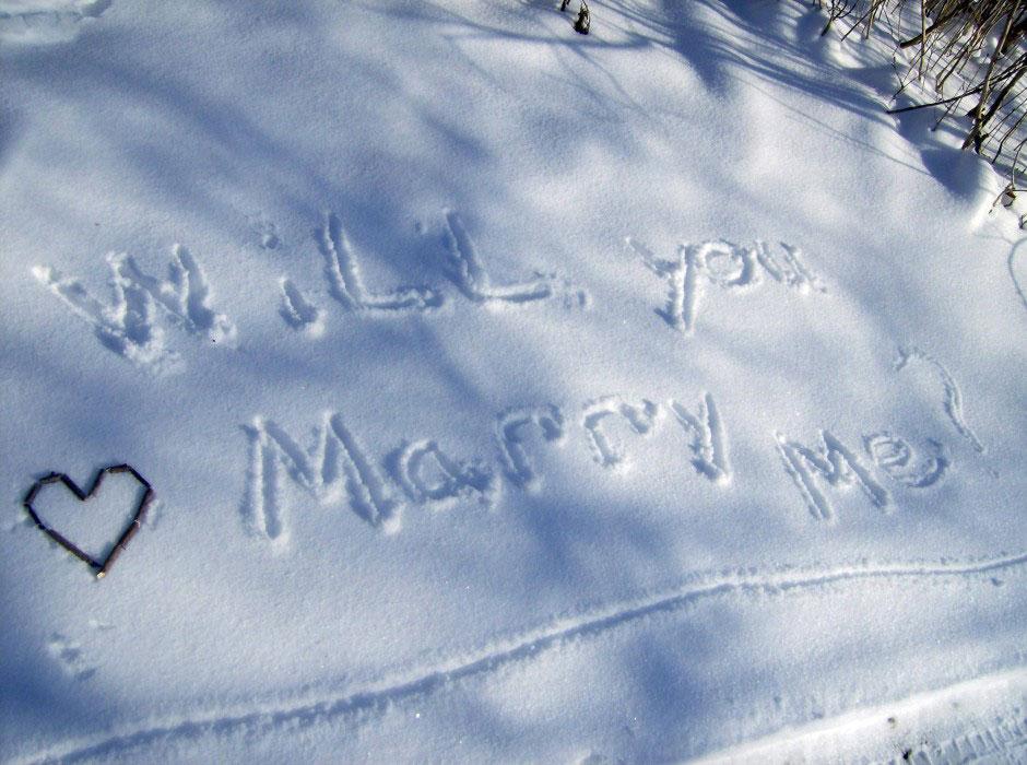 Snow proposal photos
