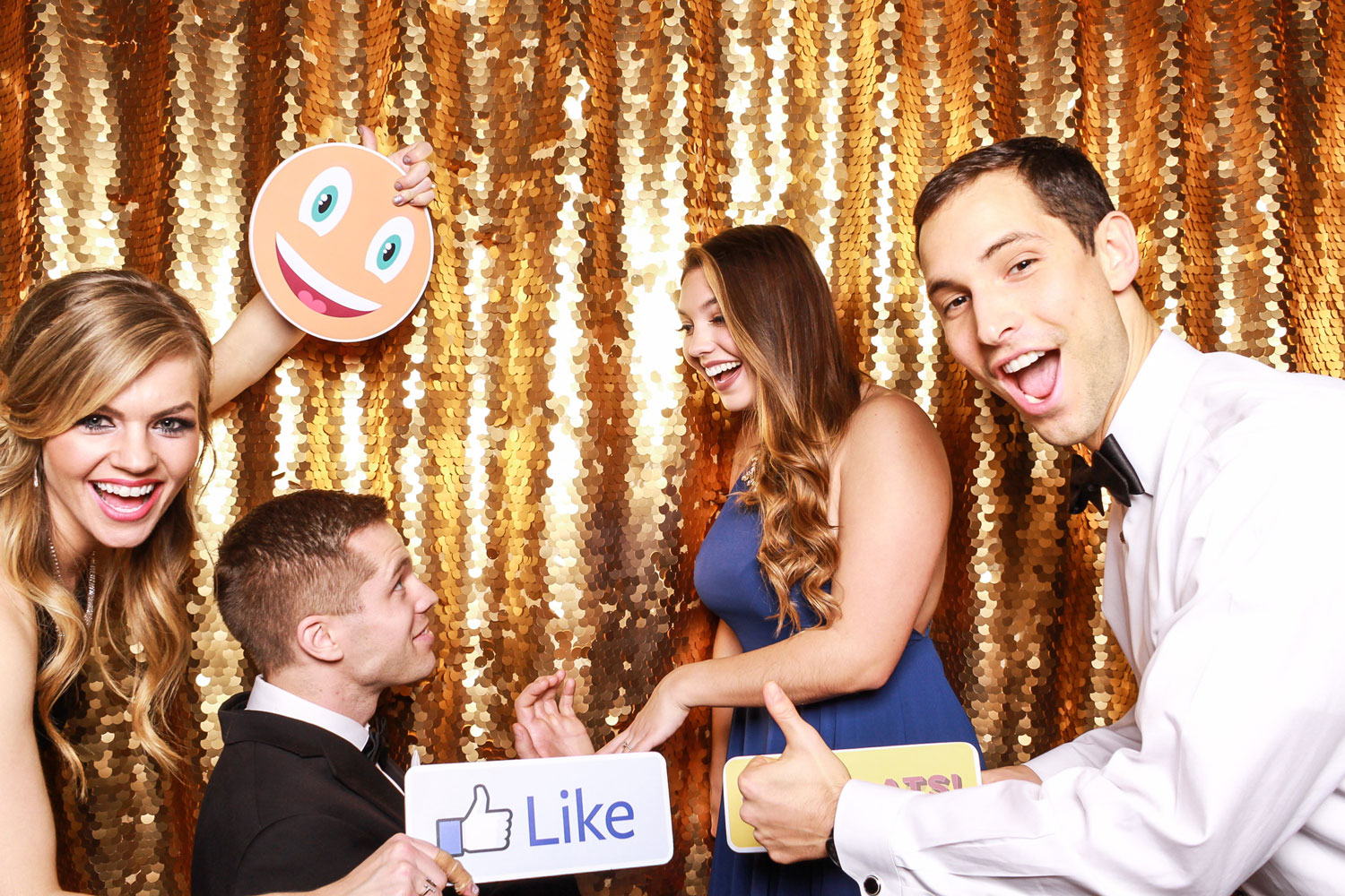 Photo booth marriage proposal