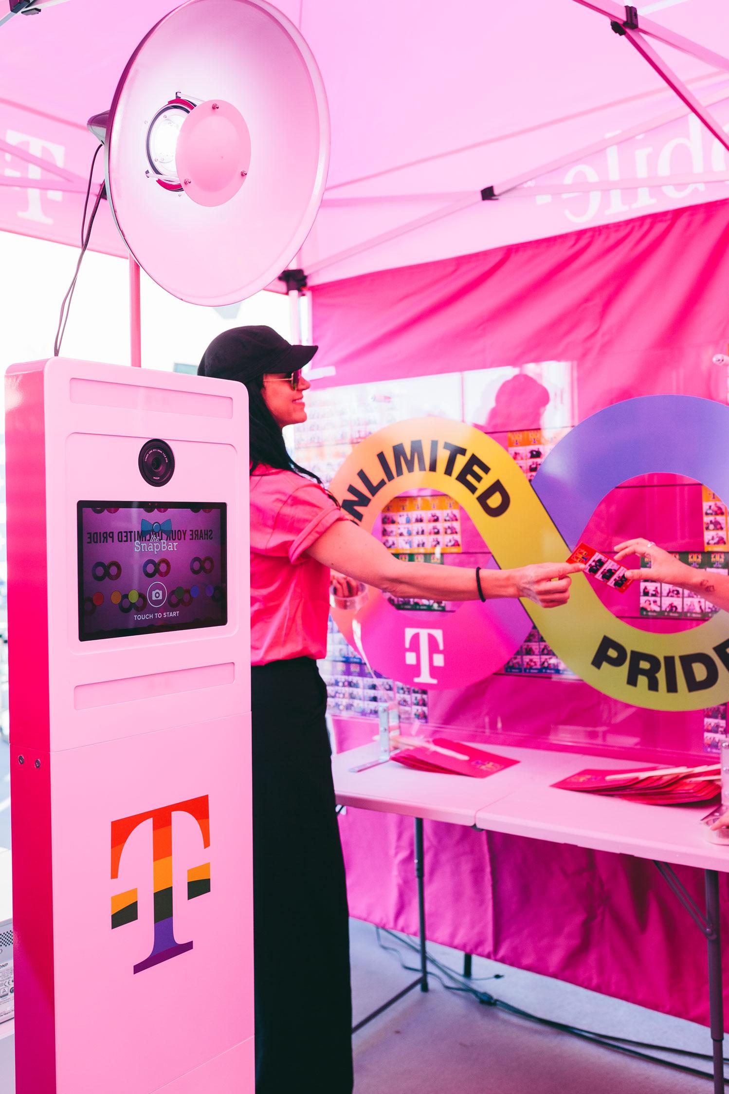 Pride festival photo booth
