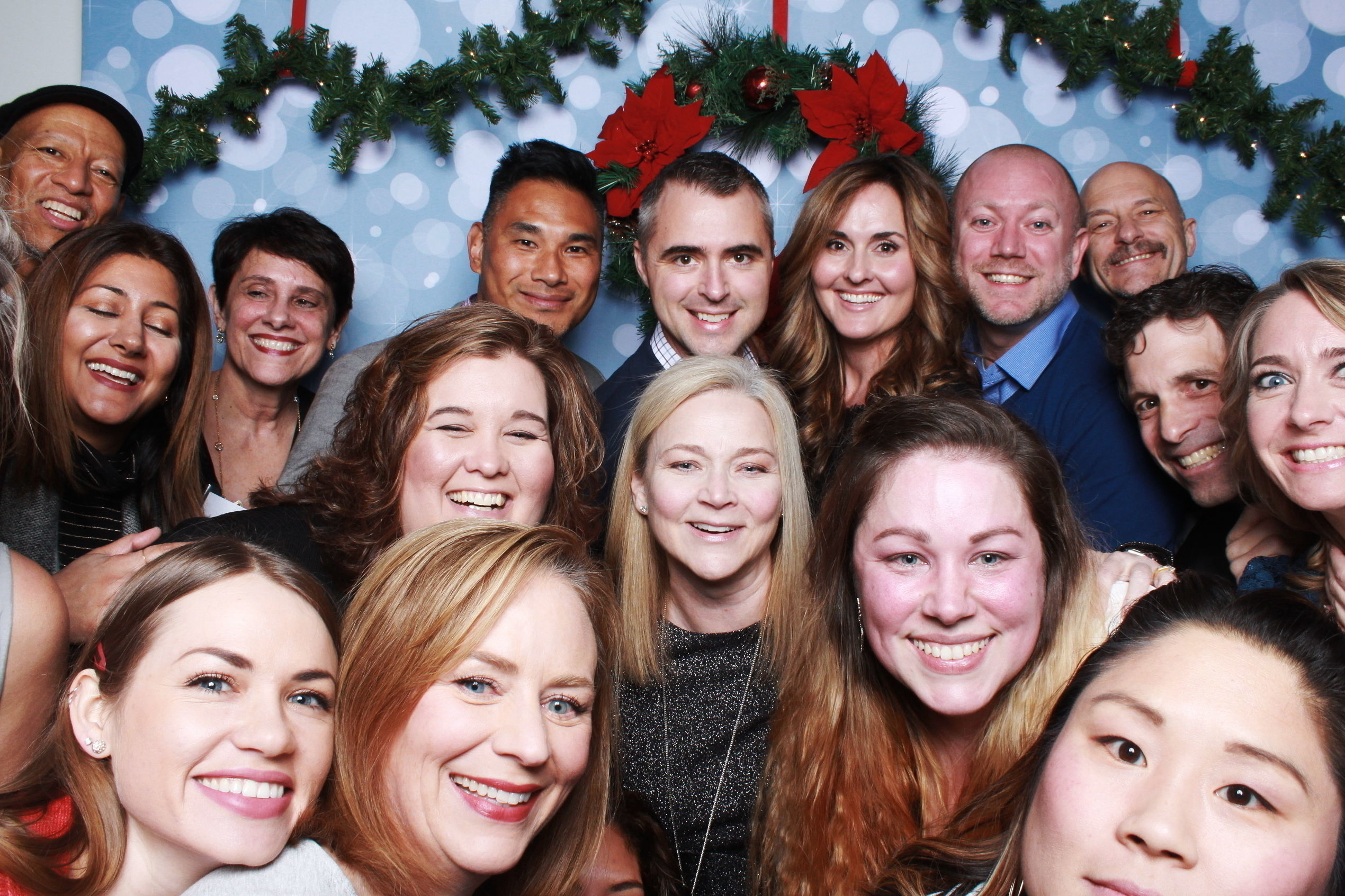 Too many people in a photo booth