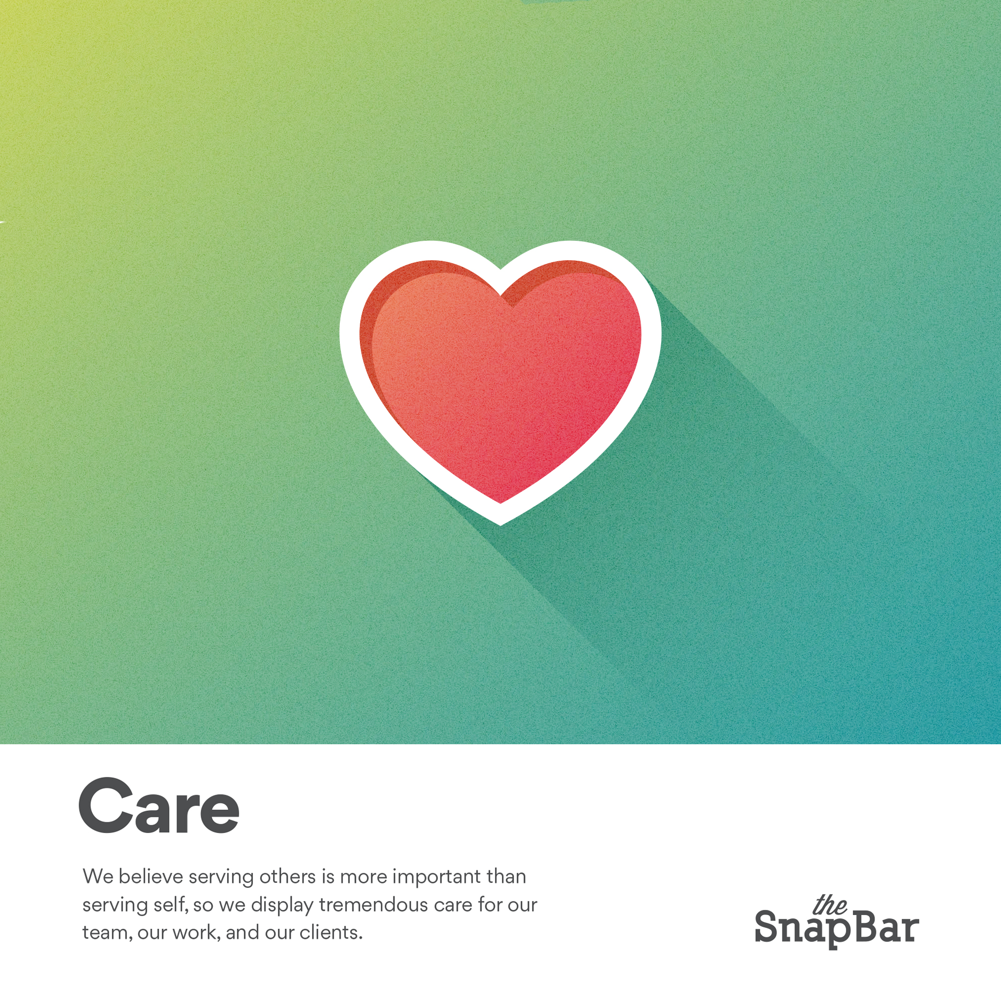 The SnapBar Core Values Care