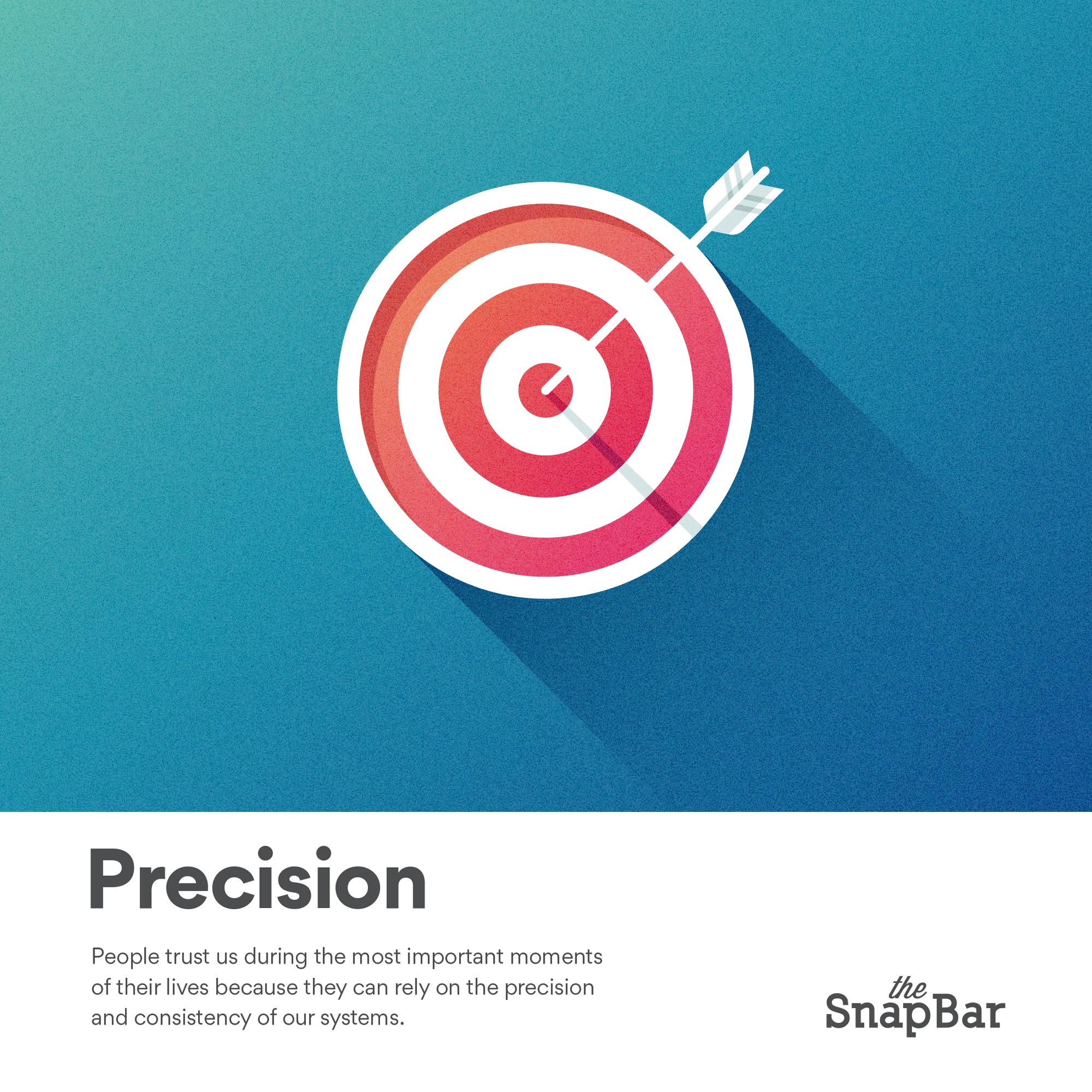 The SnapBar Core Values Precision