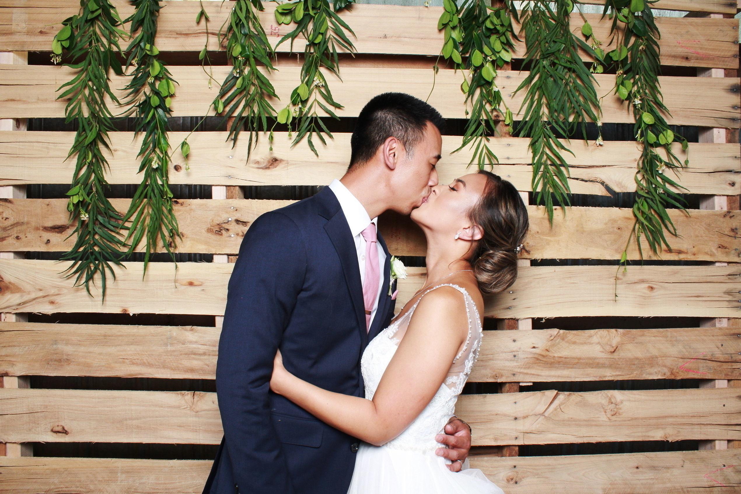 Boho wedding photo booth