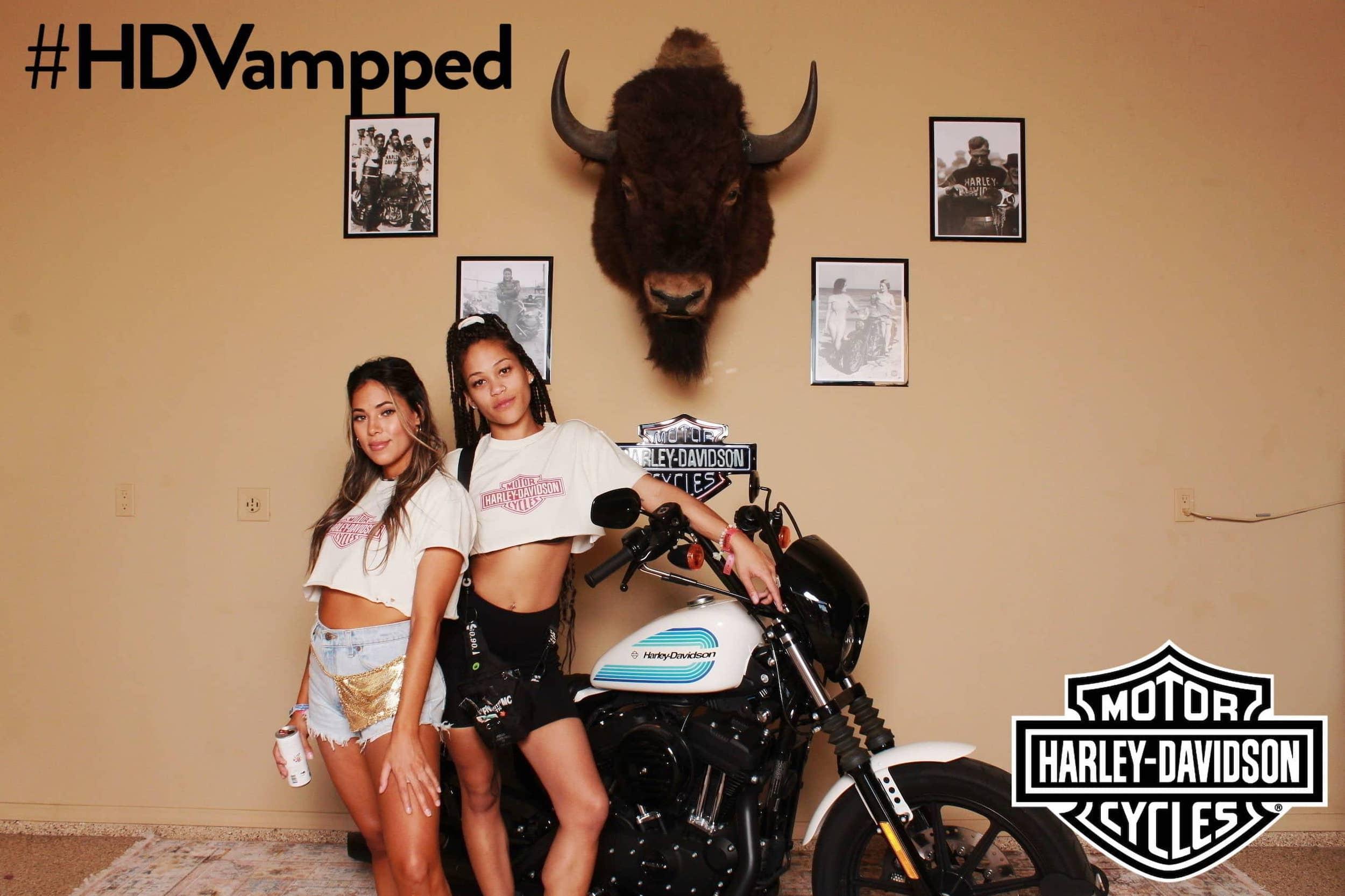 Coachella Harley Davidson photo booth