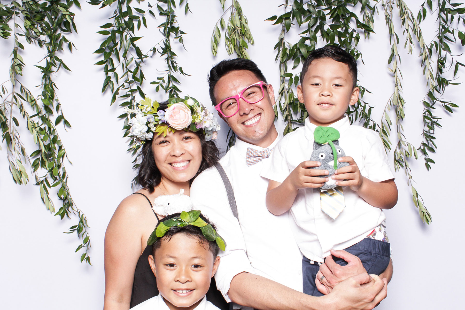 Floral wedding photo booth