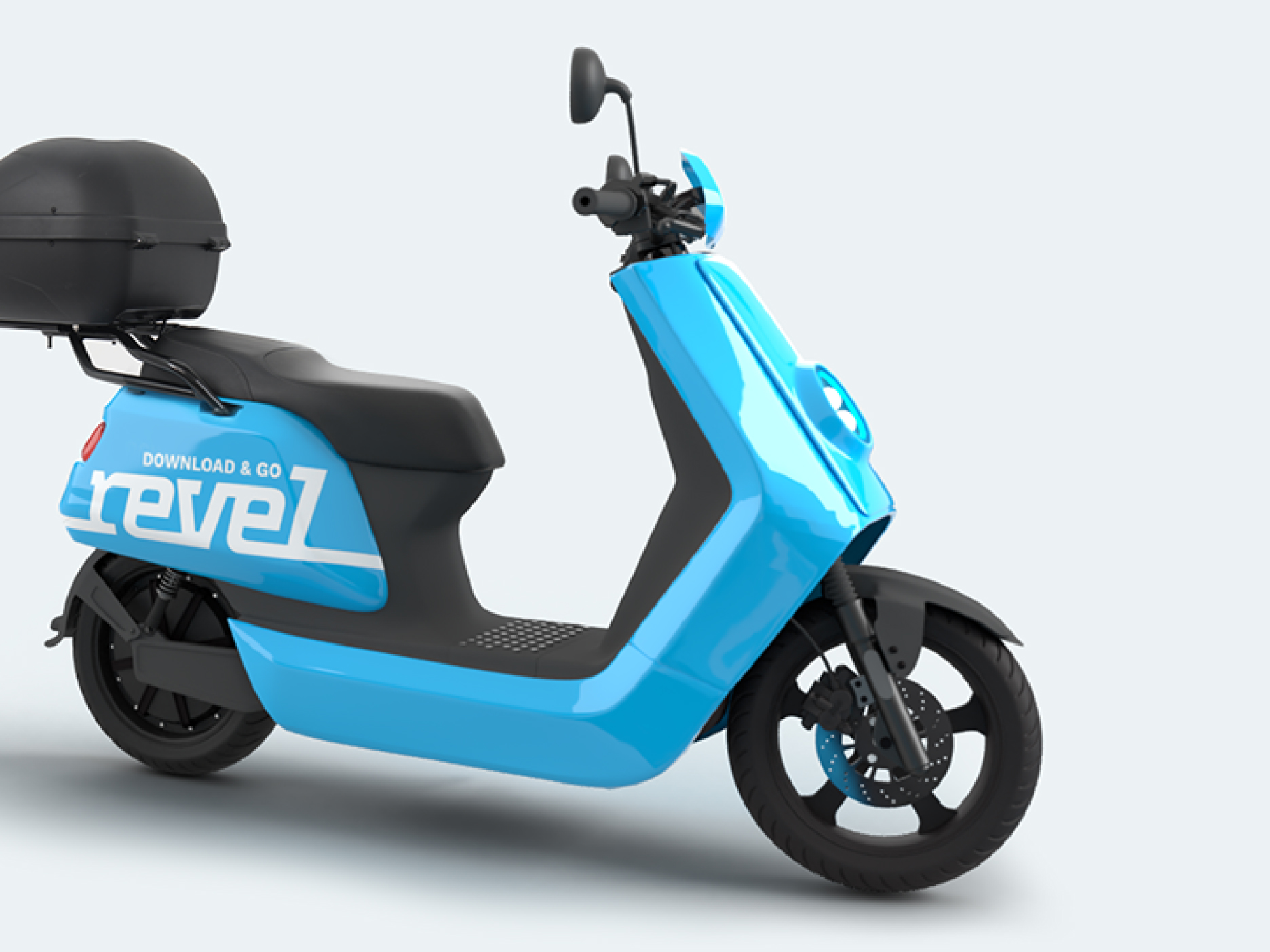 side view of revel electric moped