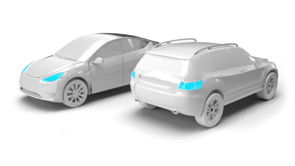 image of 2 electric cars side by side