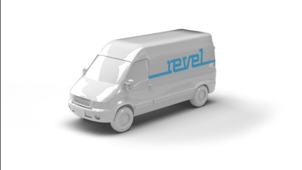 plastic white revel van