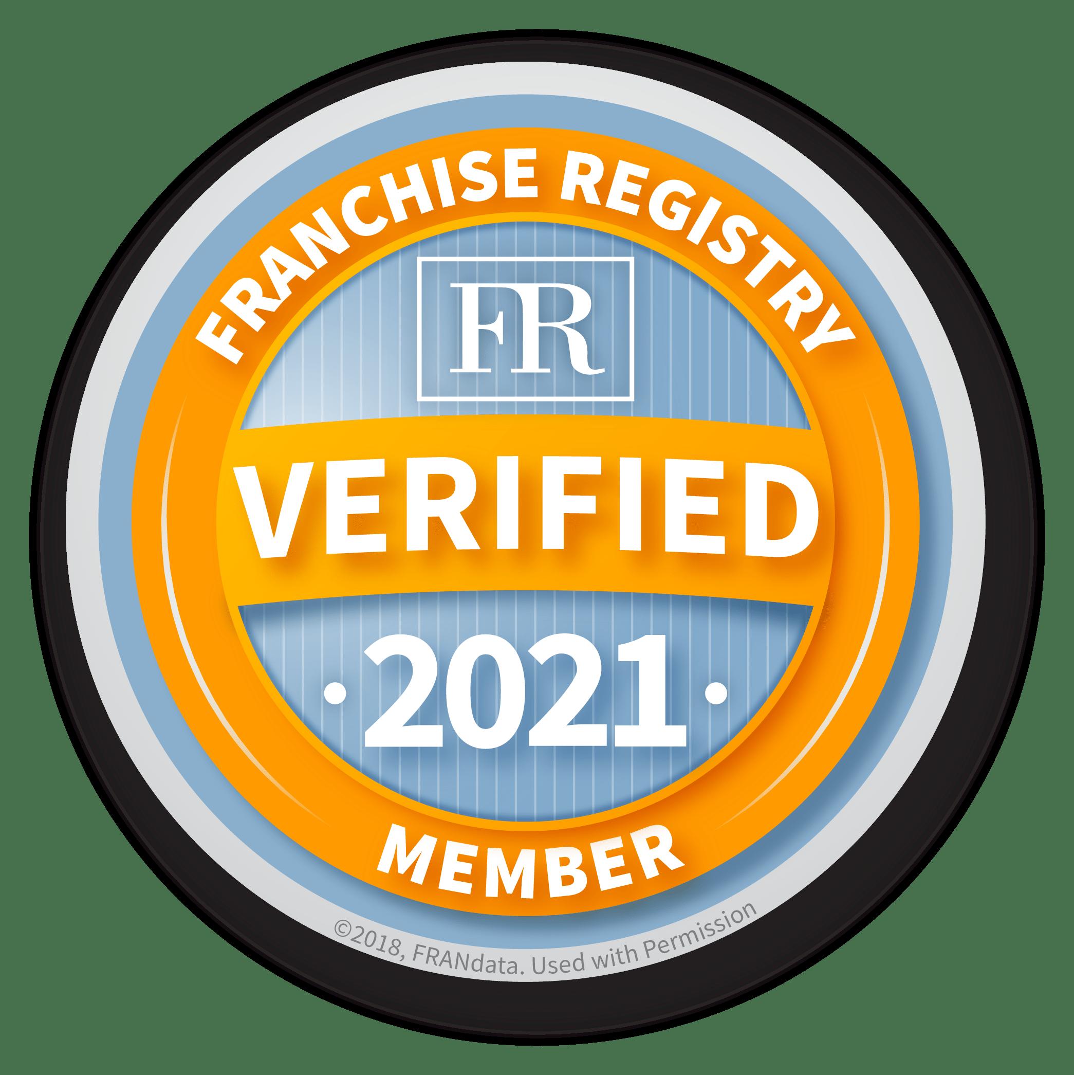 FRANdata Verifiect Franchise Member Badge 2021