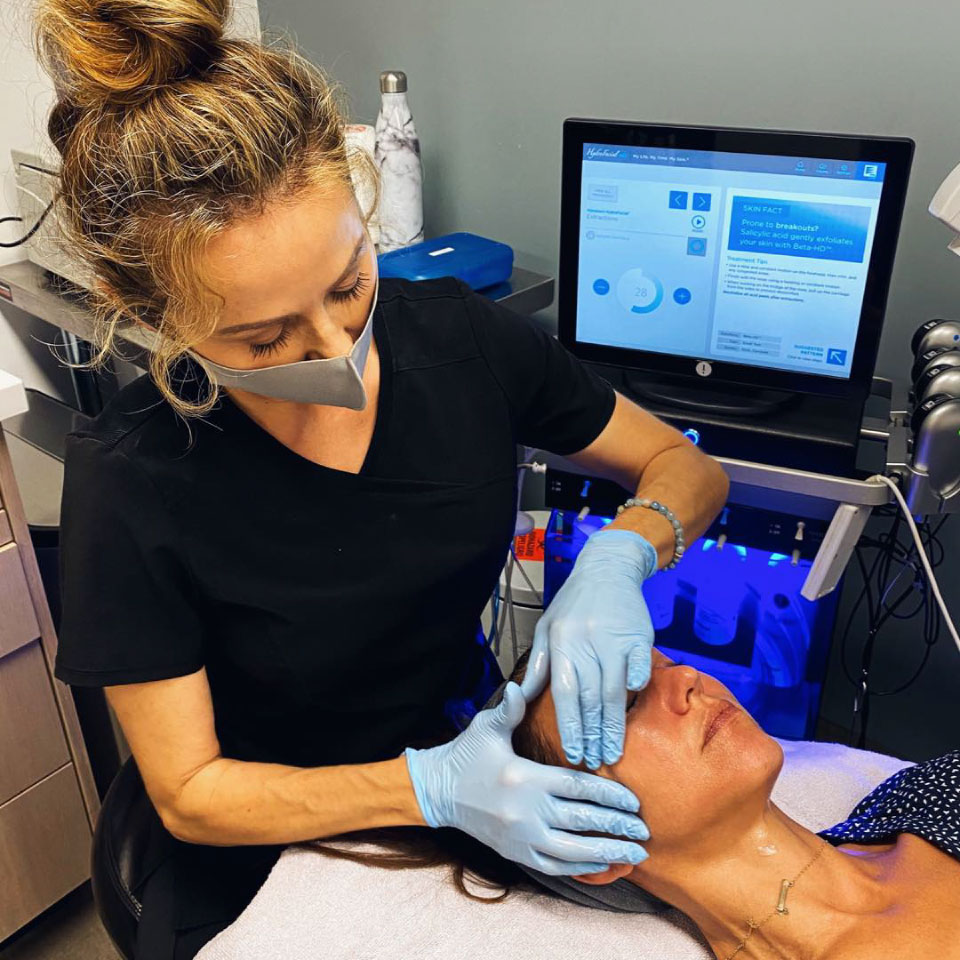 Woman receiving aesthetic treatment at Beverly Hills Rejuvenation Center