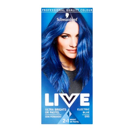 The product recommendation feature conveniently shows the customer the blue hair dye that they had previously purchased