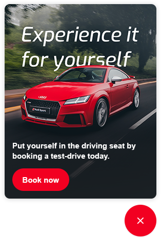Upon clicking on the ad, Digital Assistant directs the user to where they can book a test-drive before they leave the website.