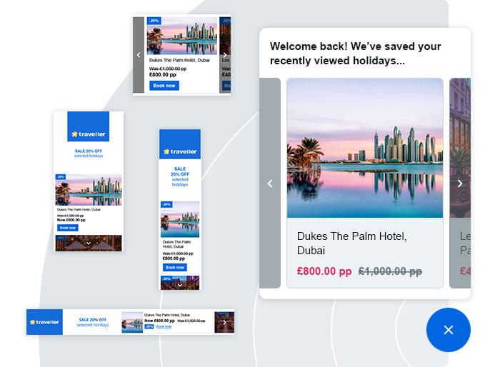 Returning visitors who have seen retargeting adverts will have a connected experience where Digital Assistant personalises their journey showing relevant product recommendations