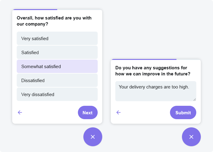 Digital Assistant's Customer Survey feature can be used to collect feedback