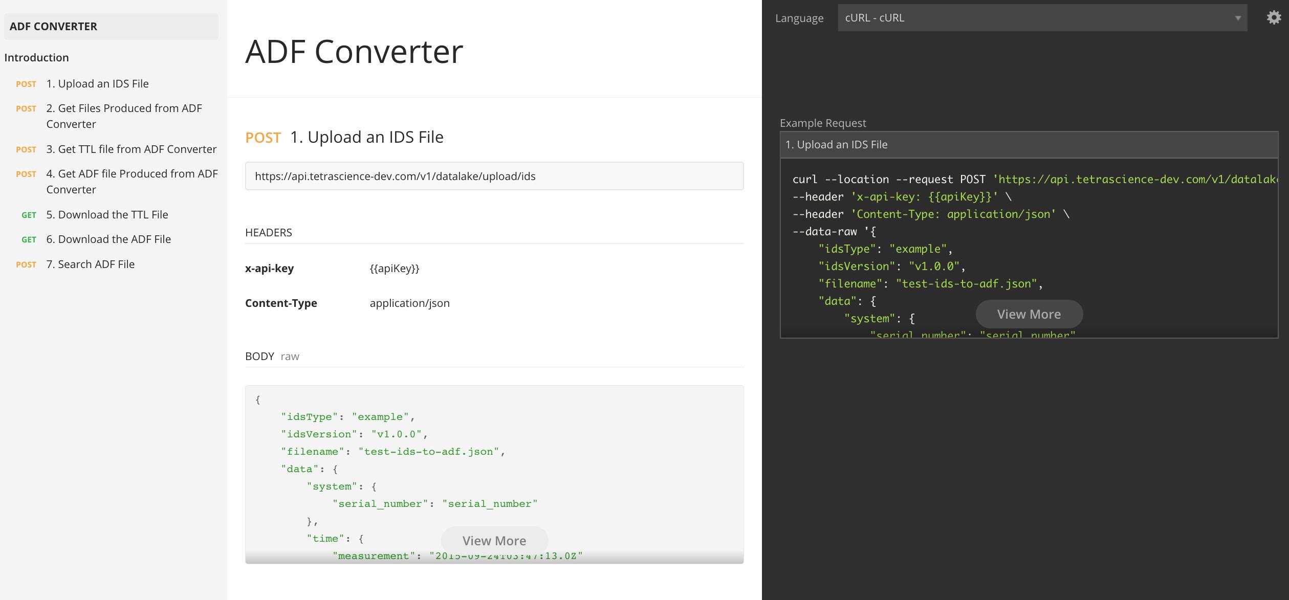 ADF Converter API