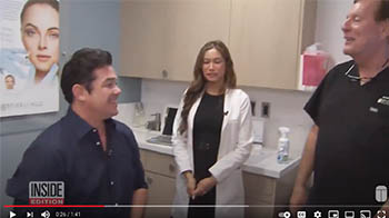 Charmaine with Dean Cain on Inside Edition - youtube screenshot