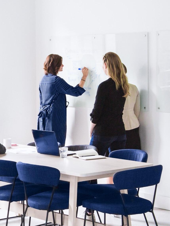A meeting between student and teacher.