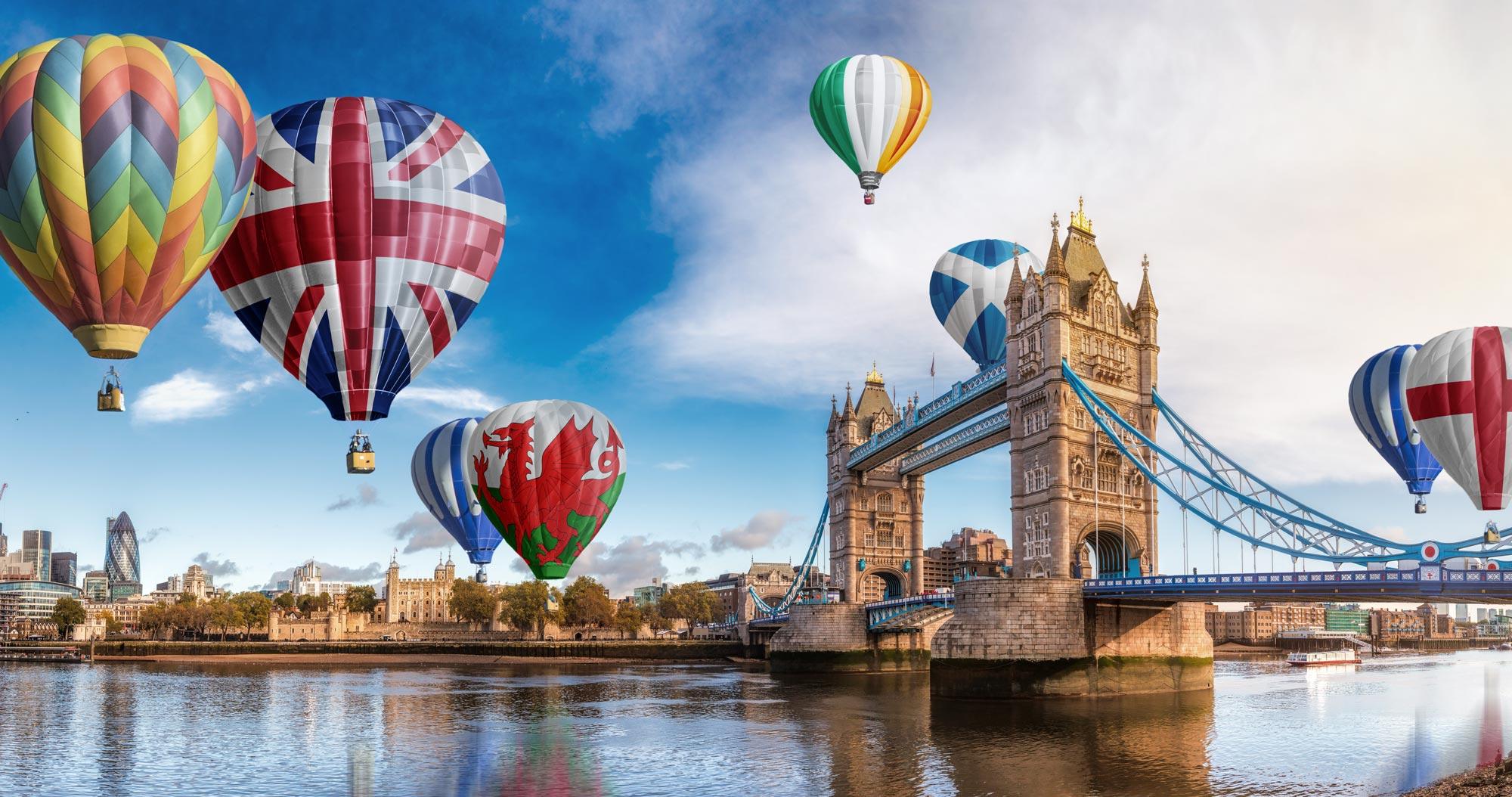 UK Flag Hot Air Balloons