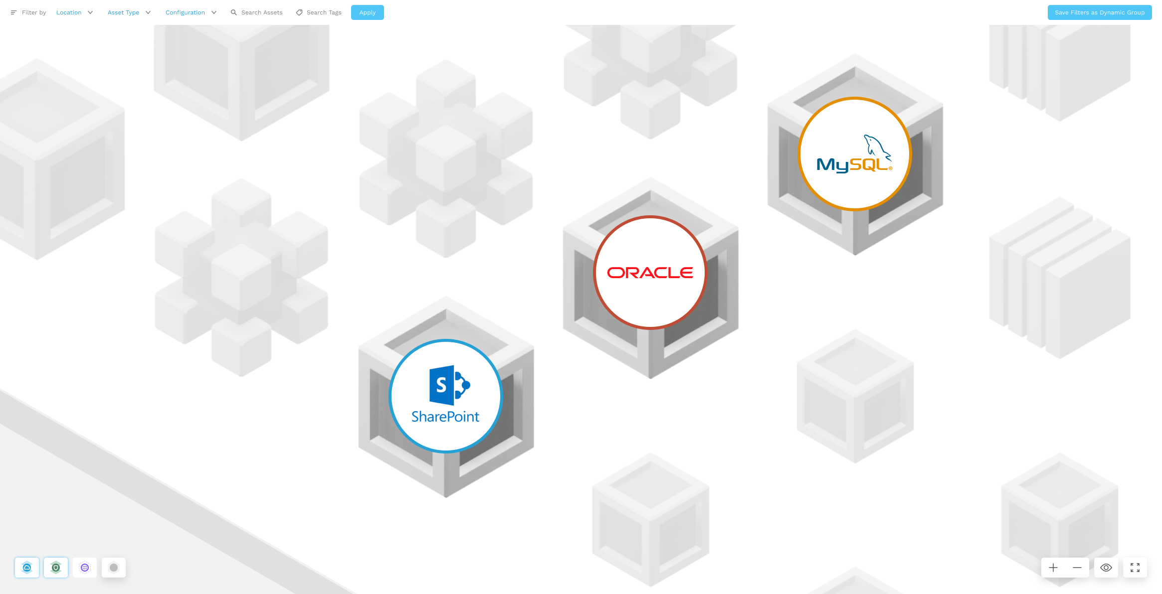 Map with data stores - SharePoint, Oracle, MySQL