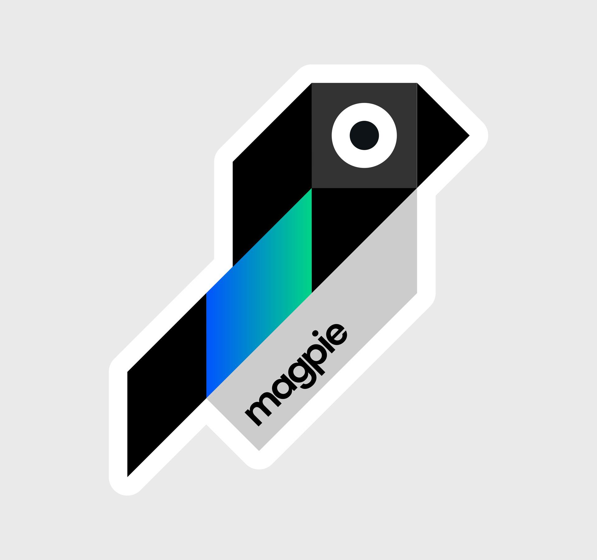 Magpie bird sticker