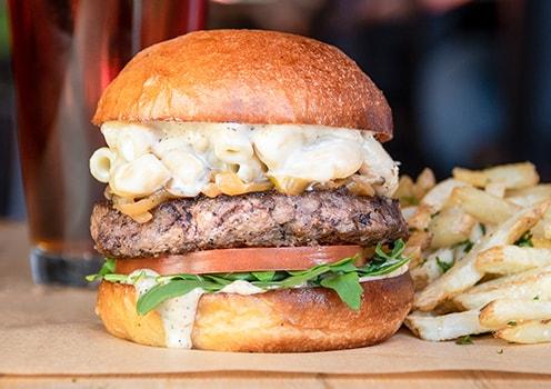 Truffle mac burger.