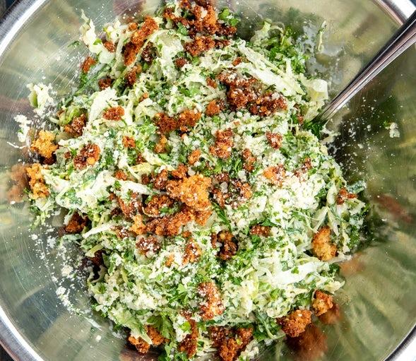 Kale caesar salad.